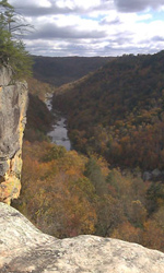 Angel Falls Overlook in fall